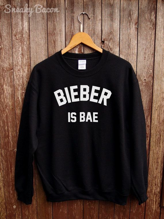 Justin Bieber sweater Bieber is bae Justin door SneakyBaconTees