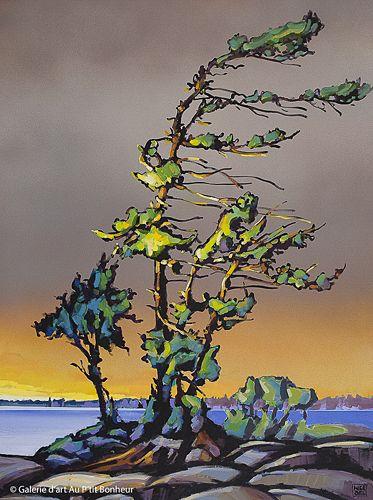 Jerzy Werbel, 'The Gull Island', 36'' x 48'' | Galerie d'art - Au P'tit Bonheur - Art Gallery