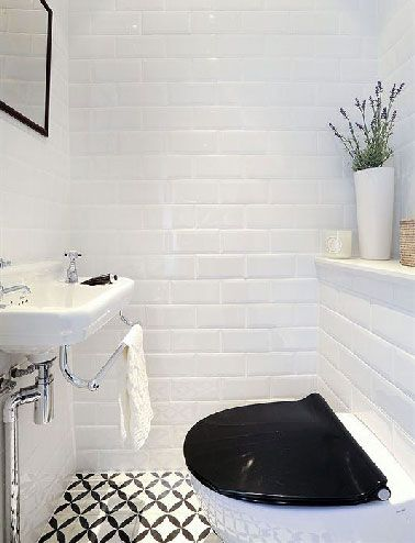 17 best images about toilettes wc on pinterest coins - Carrelage metro blanc castorama ...