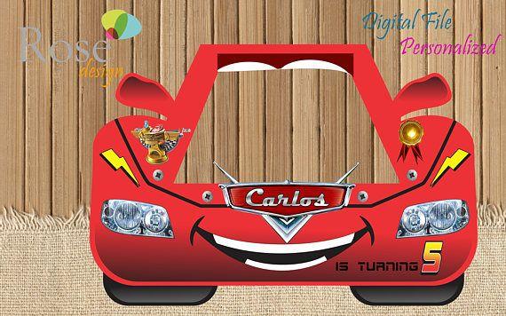 Cars Photo Booth / Cars Birthday / Birthday Backdrops /