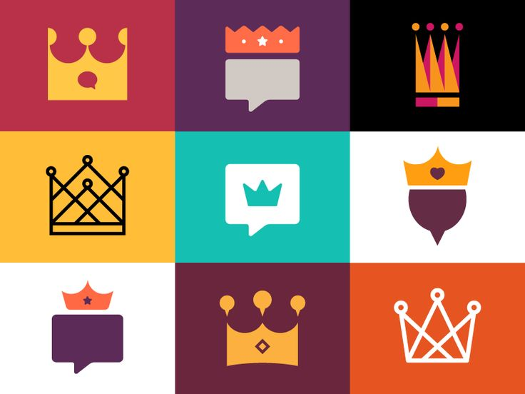 Flat Icons / Flat Design / Icons / Pictograms / Symbols / Crowns n' Stuff