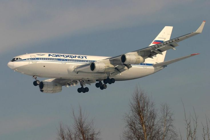 A companhia russa AEroflot voou para o Brasil com o IL-96 (Divulgação)