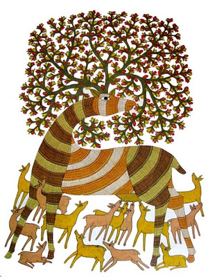 A tribal Gond Painting