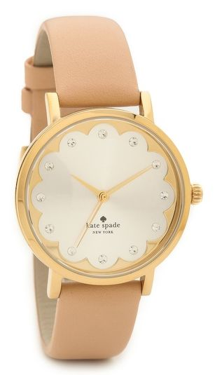 scalloped kate spade watch.