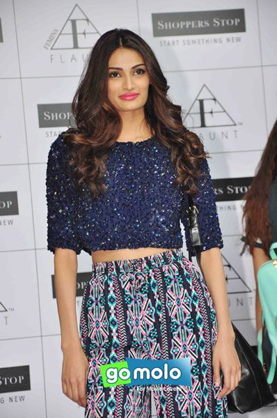 Athiya Shetty at the Launch of Femina 'FLAUNT' Autumn Winter 2015 collection at Shoppers Stop in Juhu, Mumbai