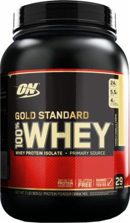 Optimum Nutrition Gold Standard 100% Whey French Vanilla Creme 2 Lbs. OPT218 French Vanilla Creme - 24g of Whey Protein with Amino Acids for Muscle Recovery and Growth*