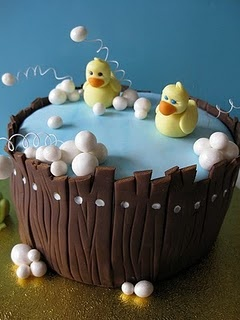Love these duckies - ck out the pregnancy cake @ original website tooooo cute! Also follow spectacular cakes site - TRULY SPECTACULAR! sh