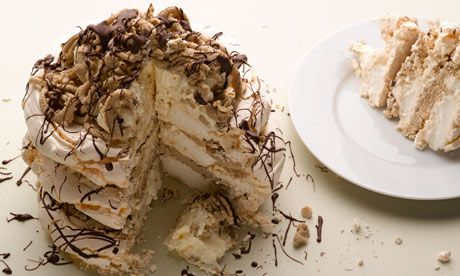 Dan Lepard's Mont Blanc layer cake recipe - pinning this for the idea of a cake of meringue layers