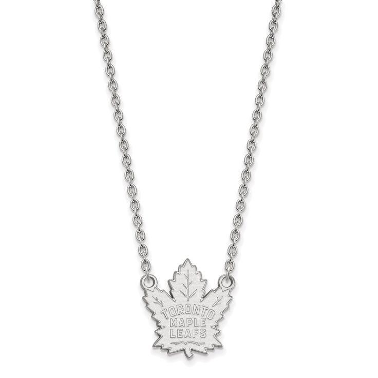 10 Karat gold NHL LogoArt Toronto Maple Leafs Pendant with Necklace