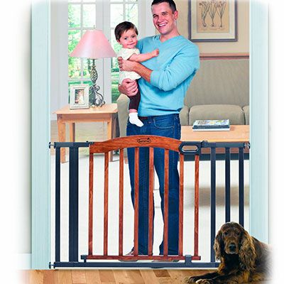 """Baby Gates: The UNBEATABLE baby proofing tool-  great site... I think I'll be buying the Regalo Easy Step Extra Tall Walk Thru Gate in white because it is 41"""" high which is higher than most and will help keep out dogs who jump. (too bad... this one actually can only extend to 40"""" width.)"""