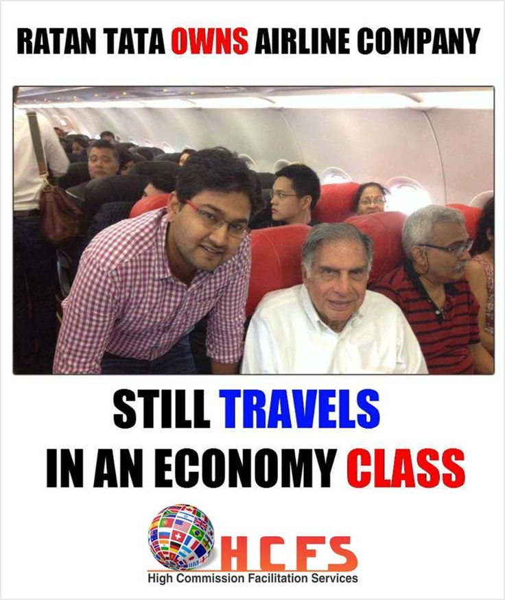 "RATAN TATA owns Airline Company, still travels in an economy class  Contact HCFS for Immigration  High Commision Facilitation Services - HCFS ""Merging boundaries,Together We Prepare""... Log on to www.hcfsindia.com  #hcfs #high #commission #facilitation #services #immigration #usa #Australia #Newzealand #cyprus #canada #UK #lawyers #chandigarh #stars #abroad #NewYork #studyabroad"