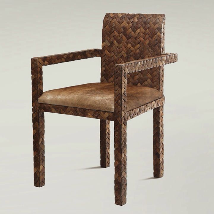 A stylish and comfortable coconut shell armchair - a piece of Natura dining room collection by Dsign.
