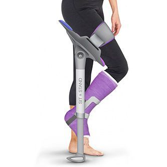 Traditional crutches essentially offload a person's weight from the injured leg to the upper body, either via the armpits or forearms. This can be uncomfor