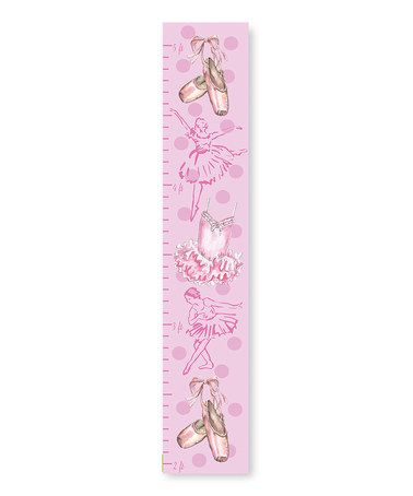 Look what I found on #zulily! Pink Ballet Modern Growth Chart #zulilyfinds