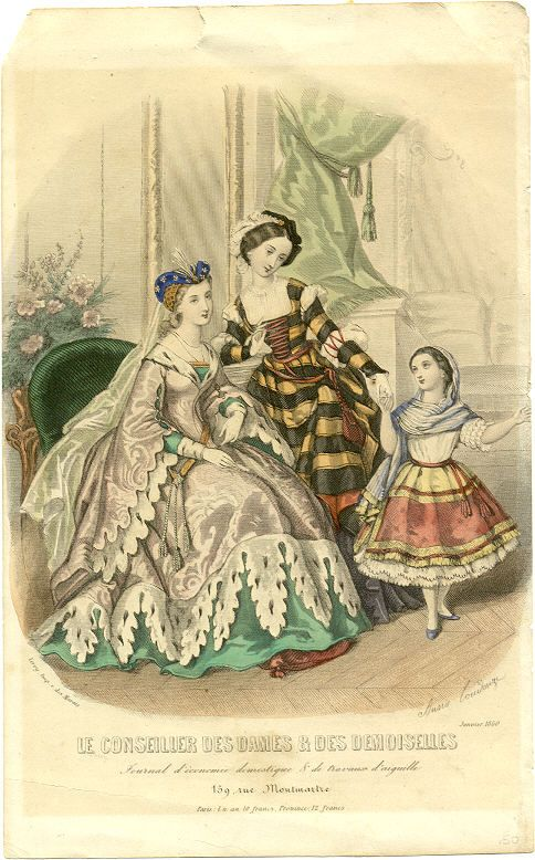Fancy Dress from Le Conseiller des Dames & des Demoiselles, 1860. From Koshka the Cat.