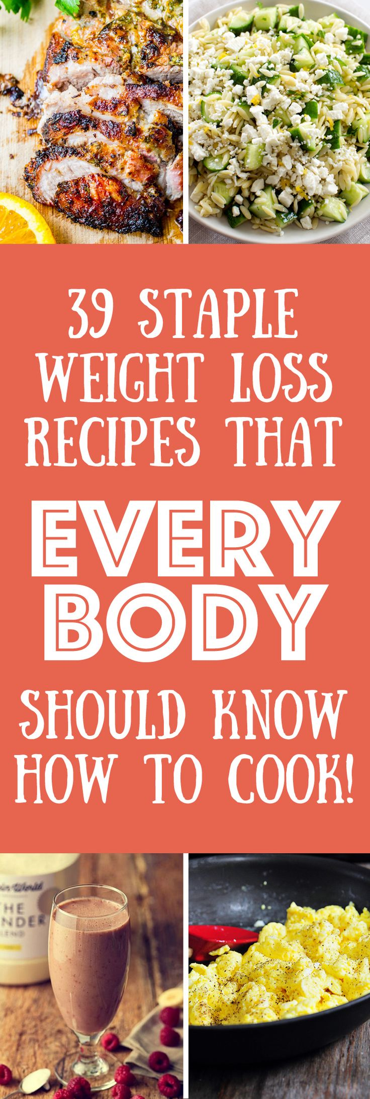 We have collected 39 weight loss recipes that we think everyone should know how to cook and know how to cook well. From perfectly cooked chicken breasts, to fish in a bag, to the healthiest smoothies, roasted vegetables, salads, soups and healthy eating treats like cookies and mousse.