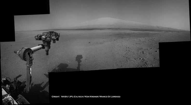 Just one of the many world out there: Mars. The NASA Rover Curiosity takes a good picture of Mt Sharp.