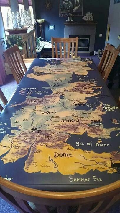 Community Post Game Of Thrones Hand Painted Westeros Table