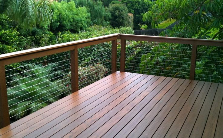 diy cable deck railing | WOOD FRAMED CABLE RAILING SYSTEMS