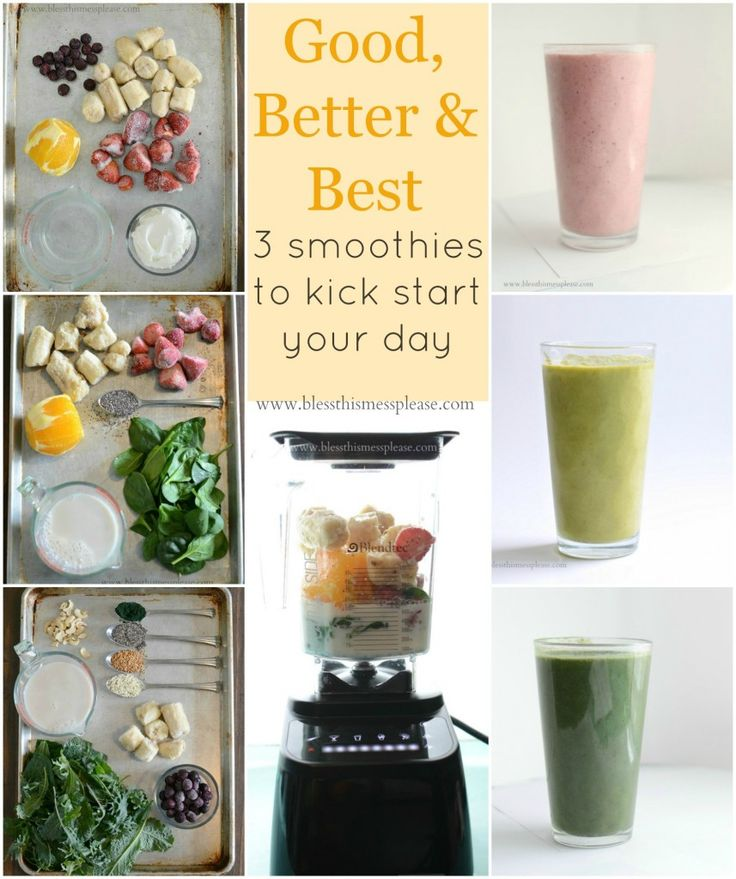 Good, Better, and Best Smoothie Recipes