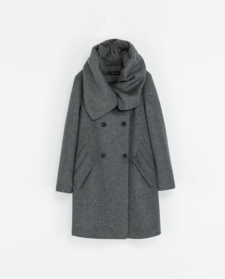 ZARA - WOMAN - WOLLEN WRAPAROUND COAT