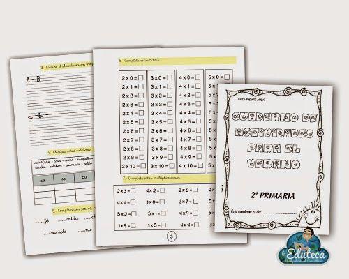 RECURSOS PRIMARIA | Cuaderno de actividades para 2º de Primaria ~ La Eduteca