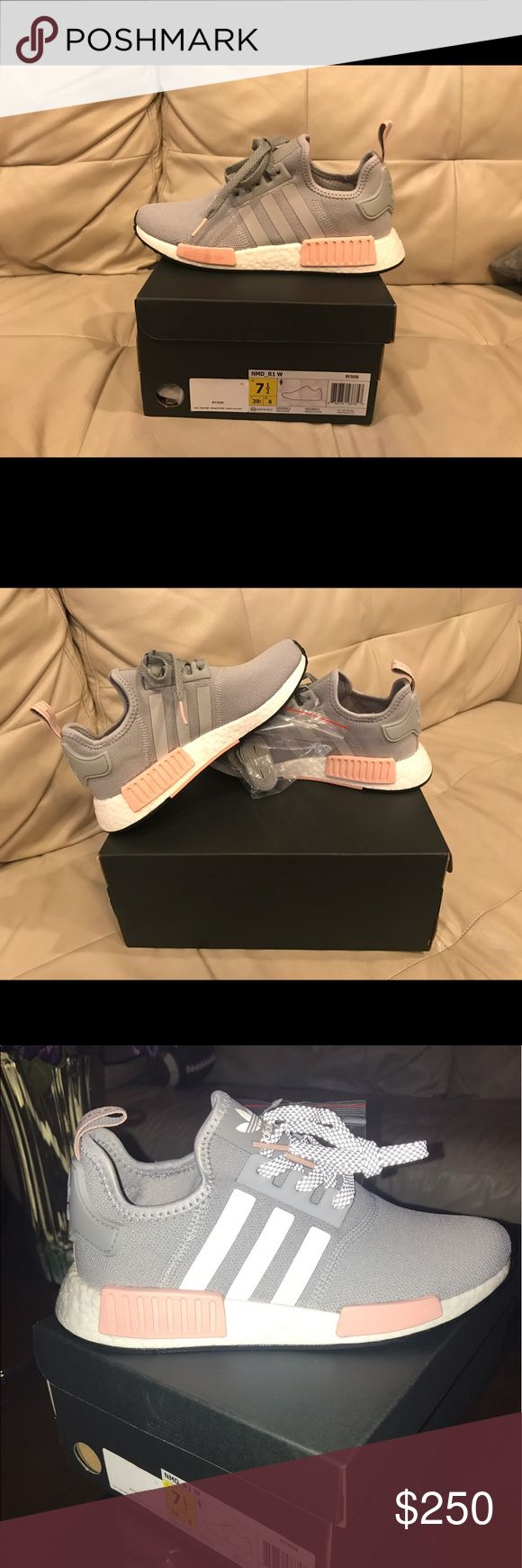 BRAND NEW Adidas ORG Women's NMD runner Adidas NMD R1 clear oinx, light oinx, vapour pink-new with tags and extra shoelaces-size 7.5. 100% authentic and in perfect condition-never worn. These shoes run big so you may want to get a half size or full size down from your regular size! PRICE NEGOTIABLE! adidas Shoes Athletic Shoes