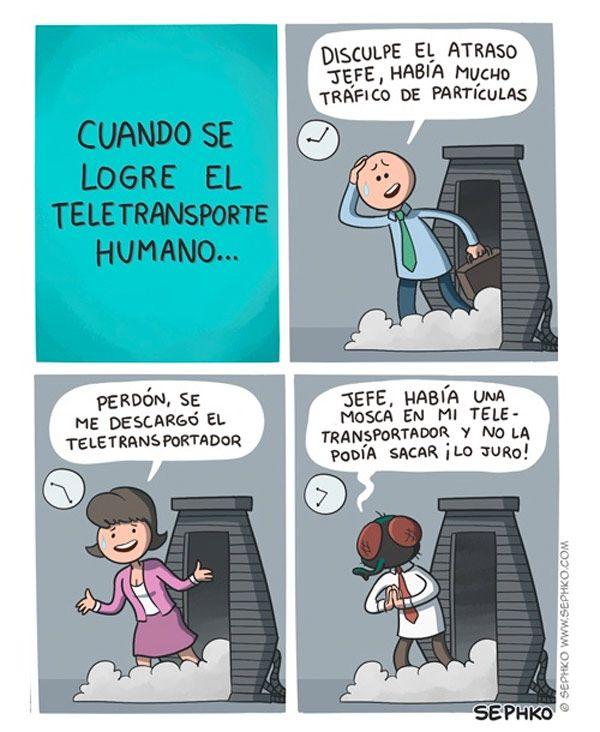 Teletransporte humano →  #humor #humorgrafico #imagenesdivertidas