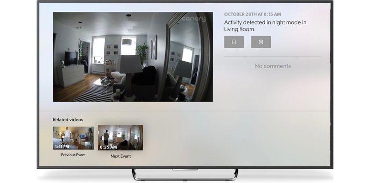 Záznam z bezpečnostní kamery Canary je teď na Apple TV