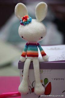300 схем амигуруми на русском: Весенний кролик