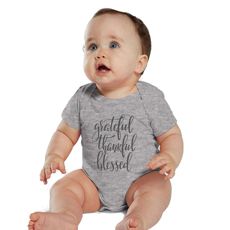 Grateful, Thankful and Blessed Baby Heather bodysuit or Shirt by bodysuitsbynany on Etsy