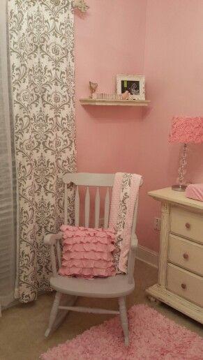 Shabby chic baby girl nursery annsley room pinterest