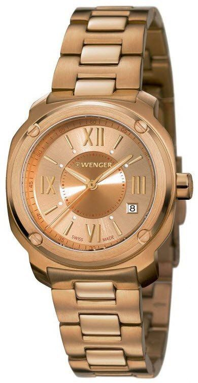Wenger Watch Edge Romans #add-content #bezel-fixed #bracelet-strap-gold #brand-wenger #case-depth-9-9mm #case-material-rose-gold #case-width-34mm #classic #date-yes #delivery-timescale-4-7-days #dial-colour-gold #gender-ladies #movement-quartz-battery #official-stockist-for-wenger-watches #packaging-wenger-watch-packaging #style-dress #subcat-edge #supplier-model-no-01-1121-112 #warranty-wenger-official-3-year-guarantee #water-resistant-100m