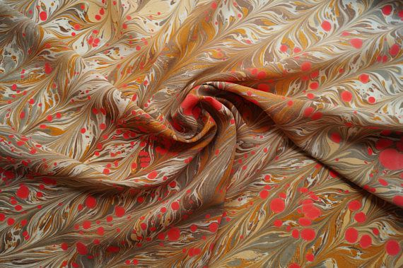 Silk Square Scarf Marbled Silk Scarf Handpainted Square