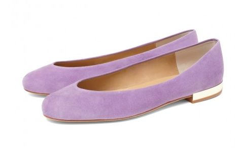 The CLEO B classic Hip Hop flats in a purple suede with gold heel detailing #sea #monsters #beatles #inspiration #purple #lilac #suede #gold #heels #shoes #fashion #summer #collection #hiphop #fashion #designer #london