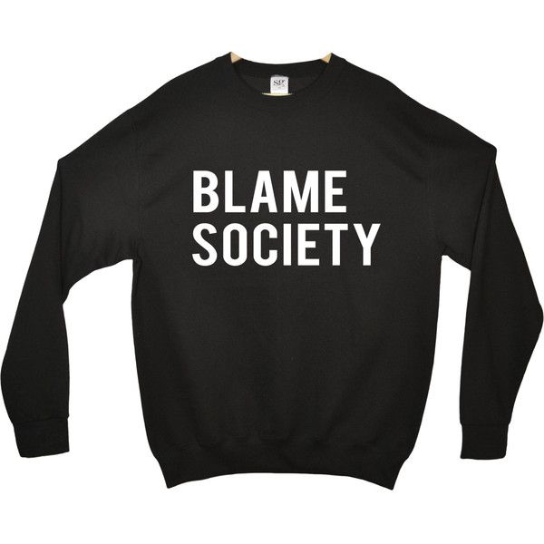 BLAME SOCIETY fashion indie dope swag retro jumper sweater Front Print... ($36) ❤ liked on Polyvore featuring tops, hoodies, sweatshirts, shirts, sweaters, sweatshirt, cuff sleeve shirt, pattern tops, cotton sweatshirt and patterned sweatshirts