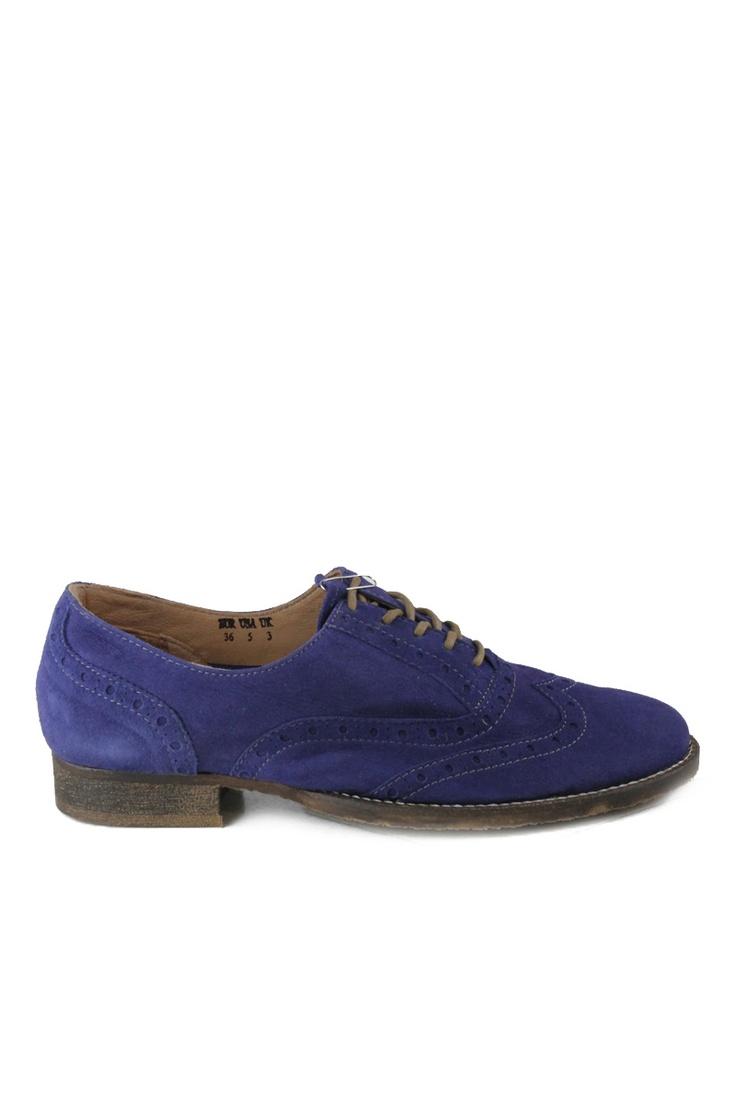 Venda Cubanas - Schutz / 8262 / Cubanas / Sapatos de Salto / Derbies de Couro Azul Real. De 90€ por 31€.