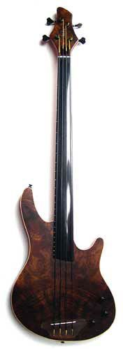 Shuker Artist Bass Imbuya Burr 4 string fretless