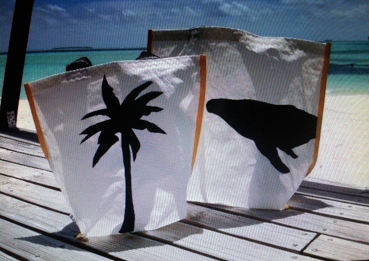 "Our latest happy customer..Mounu Island Resort in Tonga....with two of our""In the spirit of Tropical North Queensland"" large beach bags."