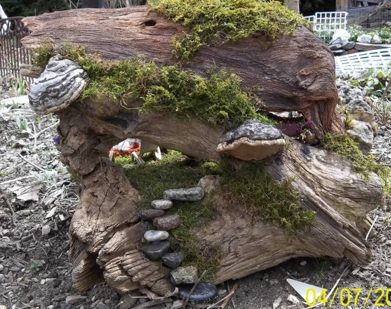 Superior Fairy Garden House With Driftwood U0026 Moss. $59.99, Via Etsy.