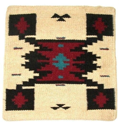 """Beautiful southwestern pillow covers. Woven wool. 18x18"""" with a fabric backside which has a velcro closure. Just slip in an insert or existing pillow. $23.95 w/ free shipping.  #pillows #southwestern #homedecor #western"""