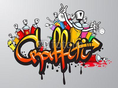 Caractères Graffiti impression