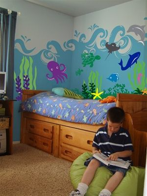 Under The Sea Ocean  Animal wall decal stickers in 2019 Boys room Kids room wall decals
