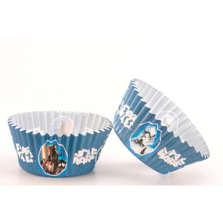 Star Wars cupcake vormpjes blauw 50 st.   Stars Wars feestartikelen   Magic Moments For Kids