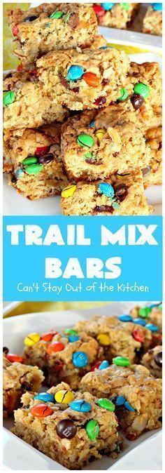 Trail Mix Riegel | Ich kann mich nicht aus der Küche raushalten Diese # Dessert…