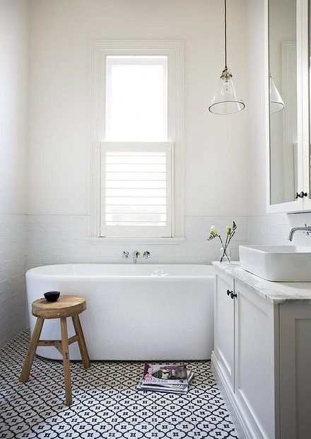 Love the floor and everything else in this bathroom
