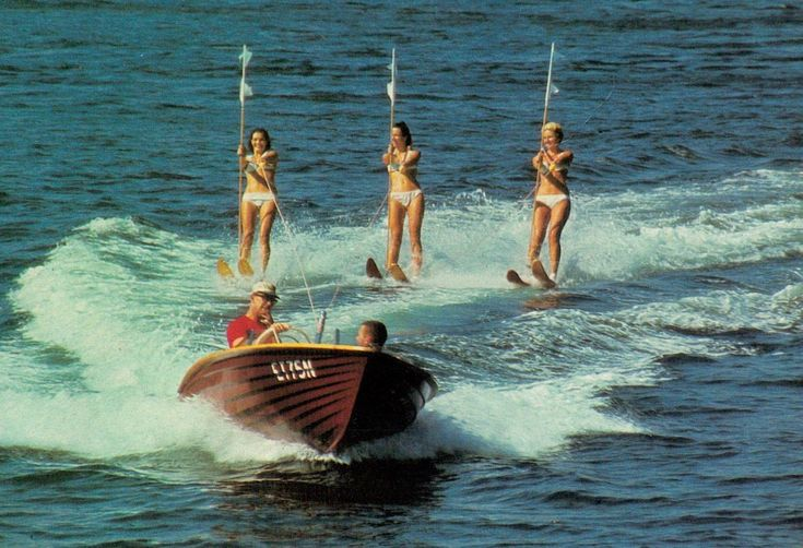 A8089cgt Australia Q Gold Coast Seaworld Water Skiing 18c prepaid postcard | eBay