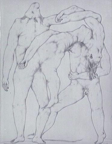 L'œuvre Agrégat humain - Centre Pompidou