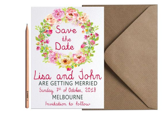 Hey, I found this really awesome Etsy listing at https://www.etsy.com/listing/461326998/boho-chic-wedding-save-the-date-floral