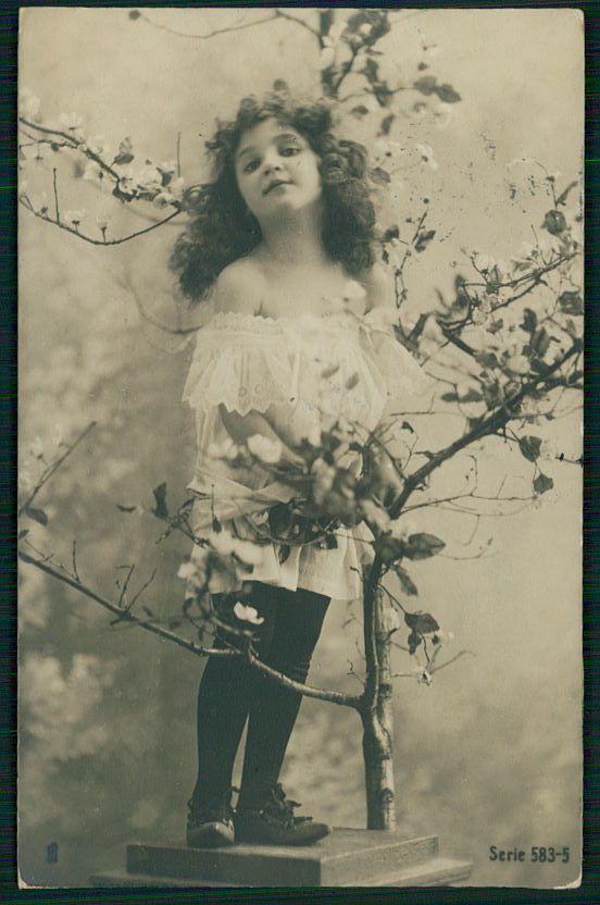 Edwardian ребенок девочка traut? оригинальная старая c1900s фото открытка   eBay